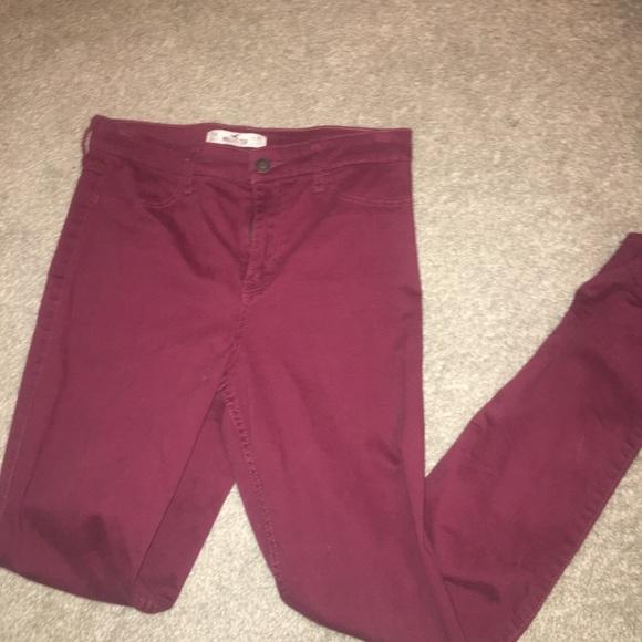 Hollister Denim - Hollister maroon jeans